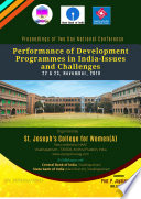 Performance of Development Programmes in India-Issues and Challenges