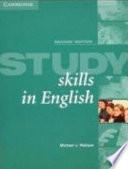 Study skills in English. [Hauptbd.]