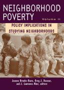 Neighborhood Poverty, Volume 2