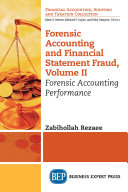 Forensic Accounting and Financial Statement Fraud  Volume II