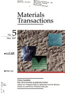 Materials Transactions Book