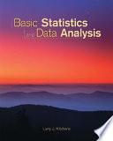Basic Statistics and Data Analysis