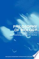 Philosophy of Biology Book