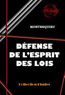 Défense de l'Esprit des Lois Pdf/ePub eBook
