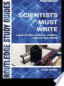 Scientists Must Write Book