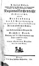 A. Julius Cäsars regulirten Korherrns des Stifts Vorau, der ...
