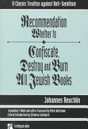 Recommendation Whether to Confiscate, Destroy, and Burn All Jewish Books Pdf/ePub eBook