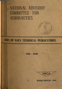 Index of NACA Technical Publications