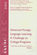 Pdf Advanced Foreign Language Learning
