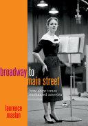 Pdf Broadway to Main Street Telecharger