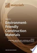 Environment Friendly Construction Materials