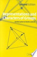 Representations and Characters of Groups Book