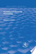 Revival  Principles of Abnormal Psychology  1928