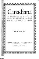 Catalogue Of Canadiana
