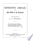 Residence Abroad  Or  Four Visits to the Continent