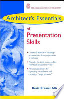 Architect s Essentials of Presentation Skills Book PDF