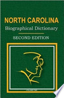 North Carolina Biographical Dictionary Book PDF
