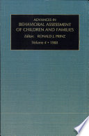 Advances in Behavioral Assessment of Children and Families