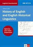 History of English and English Historical Linguistics