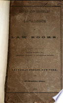 A General Catalogue Of Modern Law Books