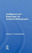 Intelligence And Espionage Book
