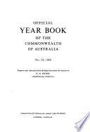 Official Year Book Of The Commonwealth Of Australia No 54 1968