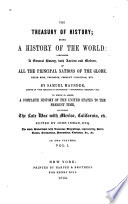 The Treasury of History  Being a History of the World Book