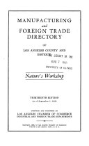 Manufacturing and Foreign Trade Directory of Los Angeles County and District