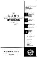 Palo Alto  Santa Clara County  Calif   City Directory