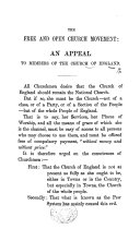 The Free and Open Church Movement  an Appeal to Members of the Church of England