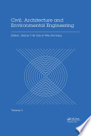 Civil  Architecture and Environmental Engineering Volume 2