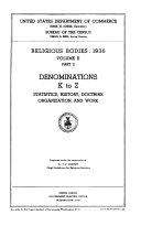 Census of Religious Bodies, 1936
