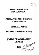 Population & Sustainable Development