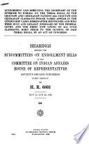 Hearings Before the Committee on Indian Affairs in the Seventy Second Through the Seventy Fifth Congress  1932 1938