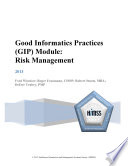 Good Informatics Practices Gip Module Risk Management Book PDF