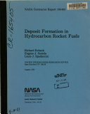 Deposit Formation in Hydrocarbon Rocket Fuels