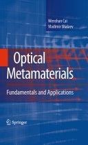 Optical Metamaterials Book