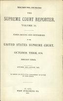 The Supreme Court Reporter