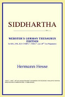 Siddhartha  Webster s German Thesaurus Edition