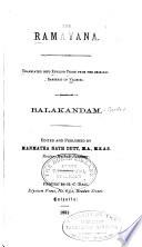 The Ramayana  B  lak  ndam  v  2  Ayodhya K  ndam  v  3 Ayanya k  ndam  v  4 Kishkindh   Kandam  v  5  Sundara K  ndam  v  6  Yuddha K  ndam  v  7  Uttarakan dam