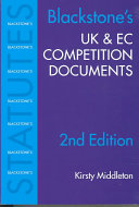 Blackstone's Uk & Ec Competition Documents