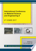 International Conference on Material Science and Engineering II