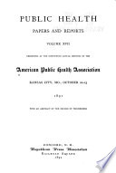 Public Health Papers and Reports Book