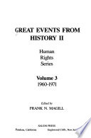 Great Events from History II.: 1960-1971