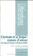 L'écrivain et sa langue