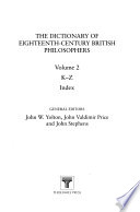 The Dictionary of Eighteenth-century British Philosophers: K-Z