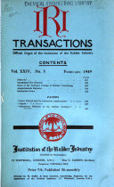 Transactions of the Institution of the Rubber Industry