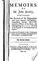 Memoirs of Sir John Berkley