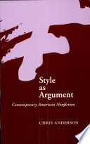 Style as Argument