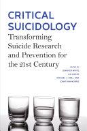 Critical Suicidology Pdf/ePub eBook